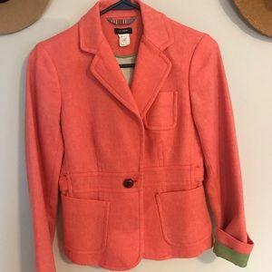 Wool coral blazer